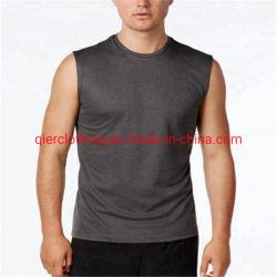 Parti superiori di serbatoio Sleeveless Bodybuilding di forma fisica della maglietta giro collo di allenamento di usura di funzionamento di ginnastica della maglietta degli abiti sportivi della maglia degli uomini all'ingrosso respirabili con grande qualità