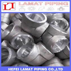 La douille en acier forgé haute pression du raccord de tuyau à filetage de soudure/90d le raccord coudé