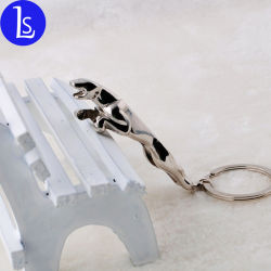 卸売によって個人化されるKeychain 3Dのヒョウの動物の吊り下げ式の金属のクラフト
