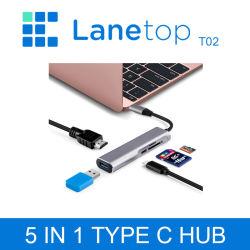 가스레인지 USB C 허브 C형 허브에서 이더넷 멀티로 연결 MacBook용 USB 3.0 포트 Thunderbolt 3 2 전원 어댑터 Pro Air Dock USB-C 허브
