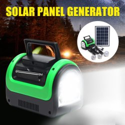 مجموعة إضاءة LED للتخزين العامل بالطاقة الشمسية لشروق الشمس العالمية مع راديو MP3 وBluetooth®