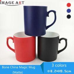 La alta calidad 11oz de porcelana China el cambio de color tazas sublimación tazas de revestimiento (mate)