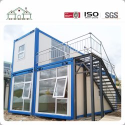 Простая и быстрая установка сегменте панельного домостроения в контейнер дома