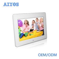 Tela LCD HD Aiyos moldura fotográfica digital de 10 polegadas