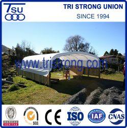 PVCカバー(TSU-2020C/TSU-2040C)が付いている電流を通された鋼鉄管フレームの容器の屋根