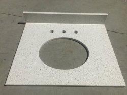 Fleck Espejo Blanco Cuarzo-P005 de la Vanidad de vanidades de Baño Baño Top Top