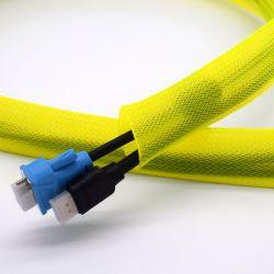 """3/4"""" PET flexible en plastique jaune sur le fil de la protection capot des câbles"""