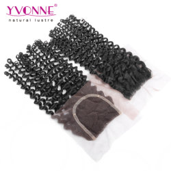 Arricciatura malese dei capelli umani di Yvonne della parte della chiusura libera brasiliana all'ingrosso del merletto