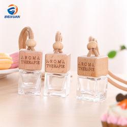 Articles d'ameublement de voiture automobile bouteille de parfum bocal en verre avec couvercle en bois de décoration intérieure