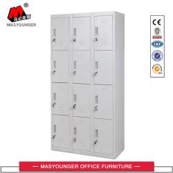 Multifuncional moderno mobiliário metálico Trabalhador Gabinete 12 de Aço Armário de armazenamento de porta