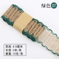 4,5Cm*2m decoração Openwork material de bricolage Tecidos de linho Vintage Lace