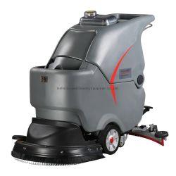 Industria di fabbrica di spazzola di 18 pollici che usa la macchina di pulizia di spinta di mano Camminare dietro l'essiccatore dello scrubber del pavimento