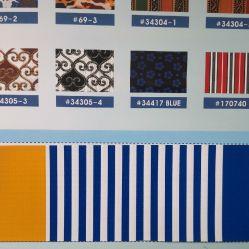 tela incatramata a strisce del PVC di spessore di 0.3-0.7mm, panno del baldacchino