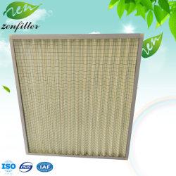 F8 placa de efeito médio grossista da Estrutura de alumínio / Filtro de Ar de Dobramento Galvanizado