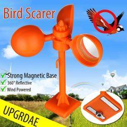 360° 자석 새 Repeller Scarer 바람 태양 에너지 새 비둘기 까마귀 제지