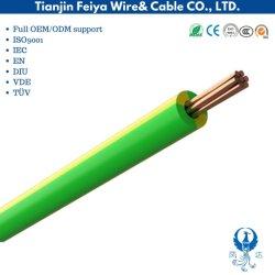Basso PVC di rame del conduttore di tensione 450/750V/collegare elettrico isolato XLPE del collegare di terra di verde giallo