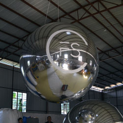 Almofada insuflável bola de espelhos com espelho de prata pano (BL-088)