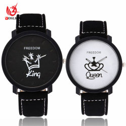 Gros couple de numérotation personnalisé montre-bracelet pour les amoureux -v98