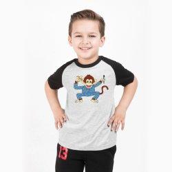 원숭이 로고를 가진 Eco-Friendly 면 아이들의 야구 t-셔츠