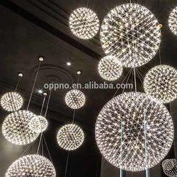 Hotel moderno átrio Star Lustre LED forma oval de ovo Luz Pendente