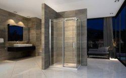 8 mm de banho de chuveiro deslizante de vidro temperado