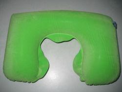 Forme de U vert doux d'oreillers de musique de voyage