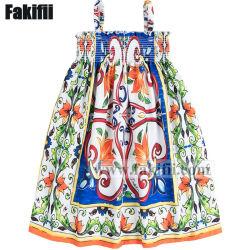 Neue Art-Majolika-Muster-Baby-Sommer-Kleid-Baby-Kleidung