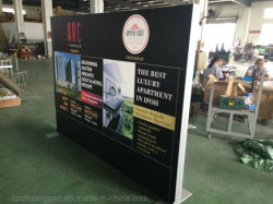 2400*H1800mm Textile Graphic Display Fabric Frame mit LED Lighting