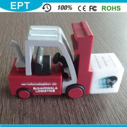 محرك أقراص USB محمول مخصص لمركبات PVC المادية على شكل سيارة (EP017)