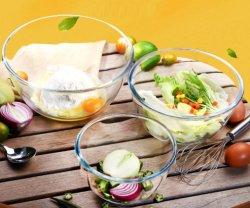 Bol en verre en verre de gros bol à salade de fruits avec une haute qualité