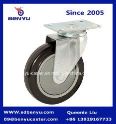 Obligación general de la rueda de Castor freno Withour PVC