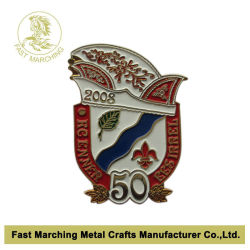 Le commandant de laminage réglable de football personnalisés insigne métallique de l'emblème de l'épinglette