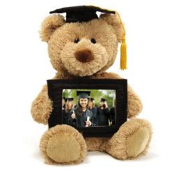 Oso de peluche de regalo de graduación de la celebración de Marco con el recuerdo de memoria de fotos