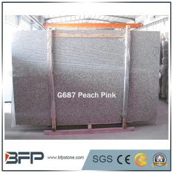 G687 Pessegueiros chineses Gangsaw laje de granito rosa e telhas