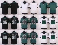 De gloednieuwe Voetbal Jerseys van het Team van Adelaars Groene/Witte/Zwarte Aangepaste Amerikaanse