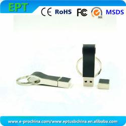 De aangepaste Schijf van de Flits van het Geheugen USB van de Aandrijving van de Pen van het Leer van het Embleem (ED017)