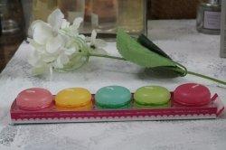 Macarons formte handgemachte Kerze für Hauptdekor