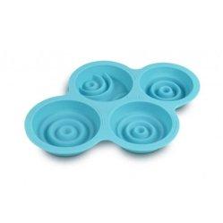 高品質のプラスチック昇進のケイ素のアイスケーキの立方体の皿(002)