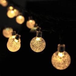 Las luces solares de jardín, 8 modos de cadena impermeable al aire libre blanco cálido Luces luces Hada mundo bolas de cristal iluminación decorativa para el hogar Jardín Parte Boda