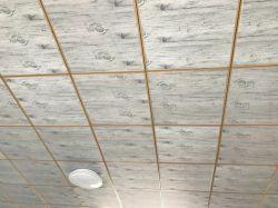 인테리어 장식을 위한 화려한 PVC Plasterboard 석고 천장 타일