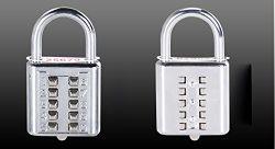 押しボタンの老化させた人々のための反錆のパッドロックのダイヤル錠