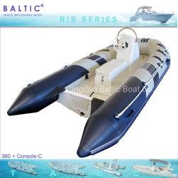 Offerta baltica della barca del pontone della vetroresina dei pesci di sport della sezione comandi della nervatura 360
