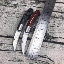 Couteau pliant Couteau à lame en acier inoxydable avec manche en bois Micarta