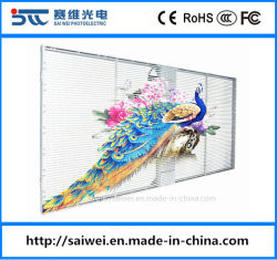 Schermo di vetro di colore completo P3.91 (1000X500mm) del LED del quadro comandi della decorazione trasparente esterna dell'interno della finestra per la pubblicità del tabellone per le affissioni video del segno dei moduli della parete