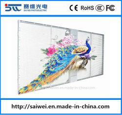 P3.91 (1000X500mm)ビデオ壁のモジュールの印の掲示板を広告するための屋内屋外のフルカラーの透過LED表示パネルのWindowsの装飾のガラススクリーン