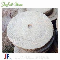 أثر قديم حجر رحى حجارة حوض لأنّ حديقة زخرفة
