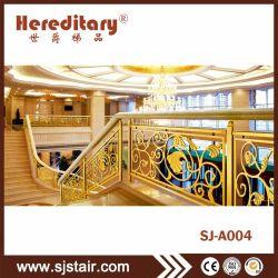 Алюминиевый корпус для установки внутри помещений Baluster Balustrade систем и лестницы в лобби гостиницы оформлены