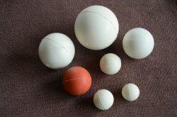 Grau alimentício bolas de Devolução de silicone branco para máquinas de peneira vibratória