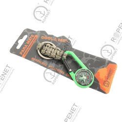 Paracord Keychain mit Carabiner Klipps