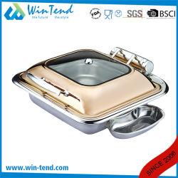 Square Rose Golden bac plat en acier inoxydable pour restaurant éparpilleur